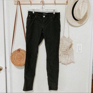Express corduroy skinny gray pants size 6 women's